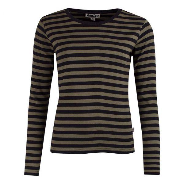 Danefae - Topaz LS - Damen Langarm Shirt - Dark Occer/Chalk
