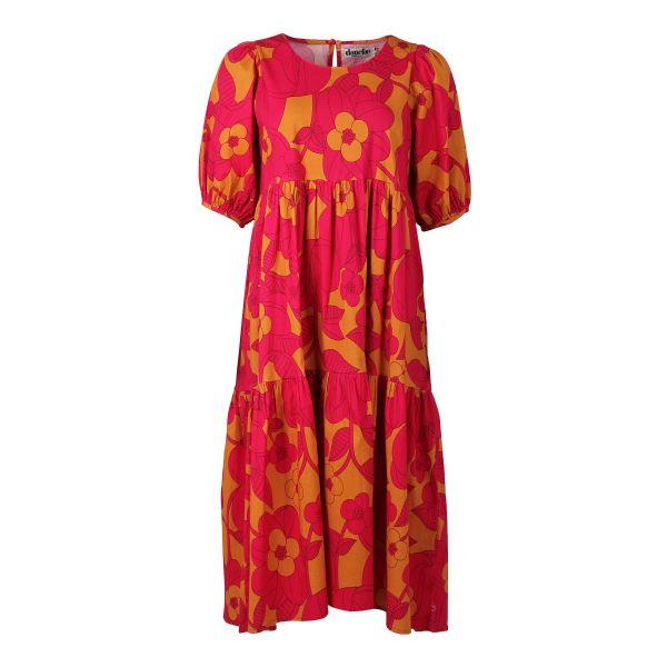 DANEFAE - JULI DRESS - LANGES DAMEN KURZARM KLEID