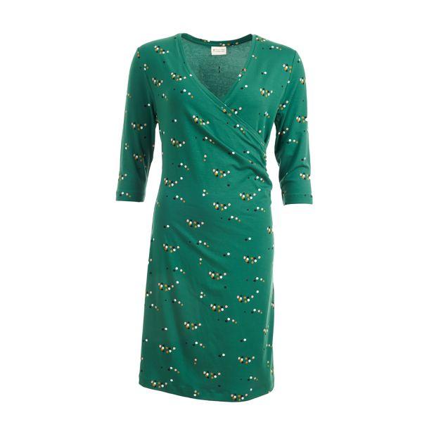 FROY & DIND - DRESS EMILIA - DAMEN KLEID - GREEN DOTS