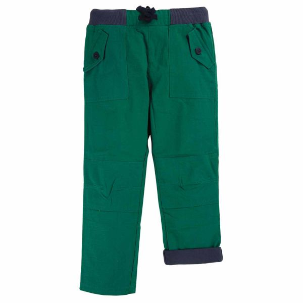 FRUGI - RIPSTOP TROUSERS - GEFÜTTERTE HOSE - SCOTS PINE