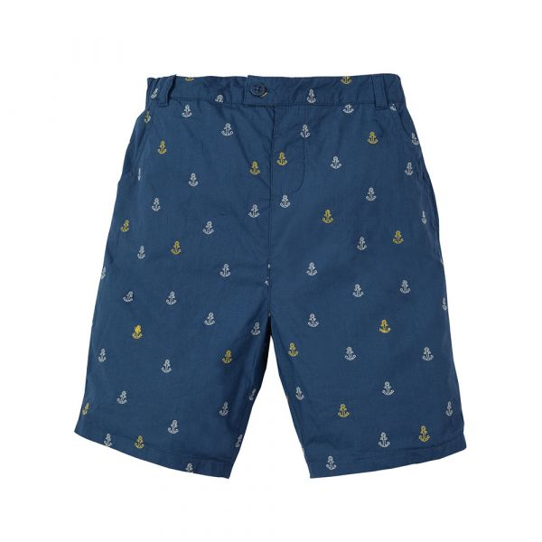 Frugi - Ralph Reversible Shorts - kurze Hose zum Wenden - Marine Blue Anchors
