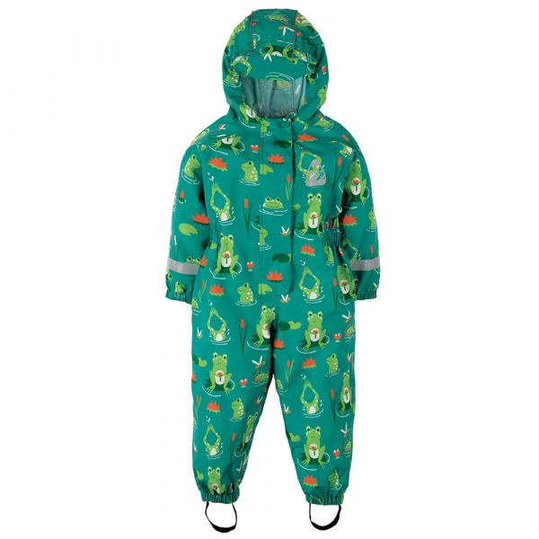 Frugi - Puddle Buster Suit - Outdoor Overall - Samson Green Frog Pond