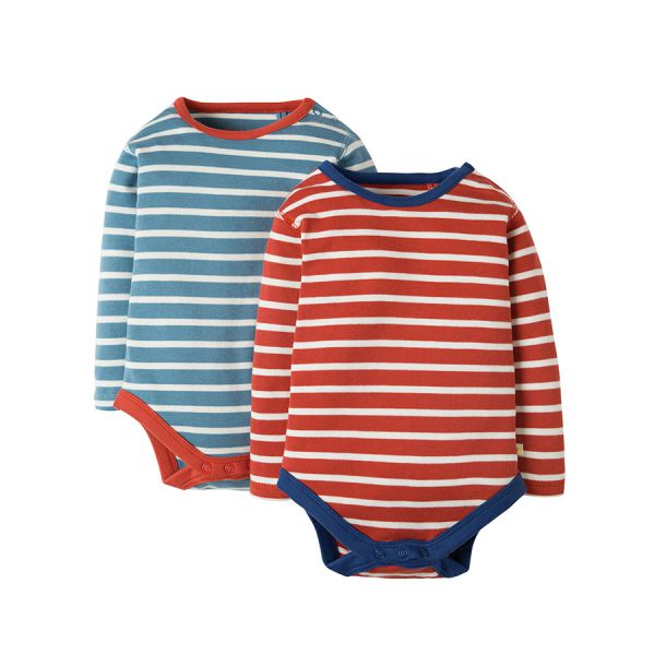 FRUGI - BILLY BODY 2 PACK - LANGARM STREIFENBODYS