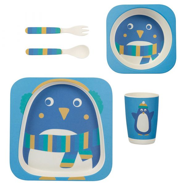 Frugi - Bamboo Dinner Set - Bambus Kinder Geschirr - Penguin