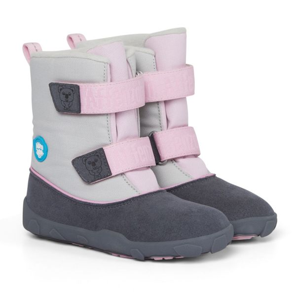 Affenzahn - Minimalschuh Winter - Vegan/Koala - Grau, Pink