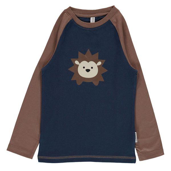 Maxomorra - Top LS Print - Bio Langarm Shirt Print - Igel