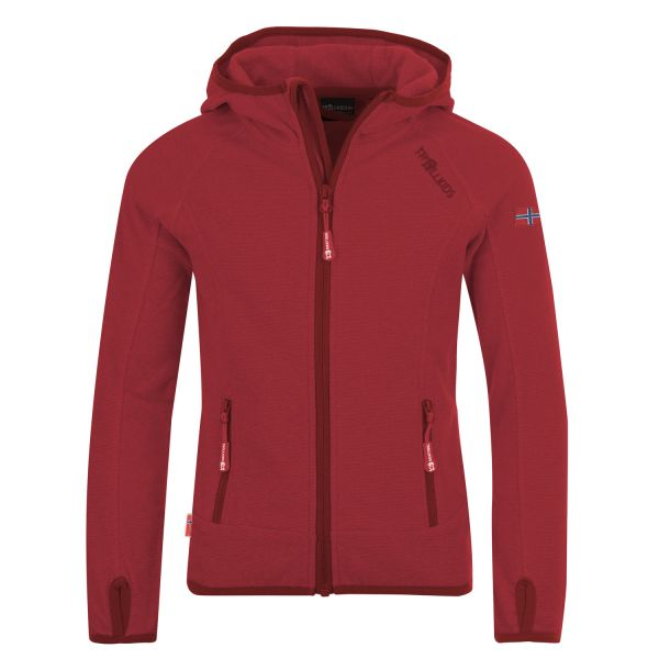 TROLLKIDS - GIRLS SANDEFJORD JACKET - FLEECEJACKE - DARK ROSE