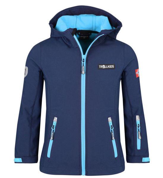 TROLLKIDS - Kids Oslofjord Jacket - Softshell-Jacke - navy/medium blue