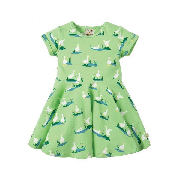 Frugi - Little Spring Skater Dress - Kurzarm Kleid - Troytown Ducks
