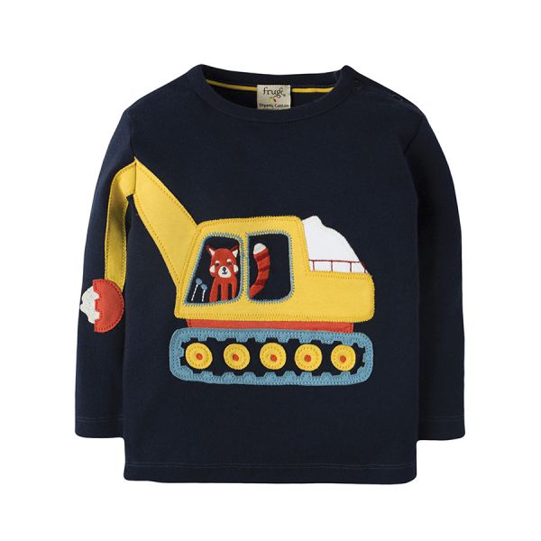 Doug Applique Top - Langarmshirt - Navy/Digger