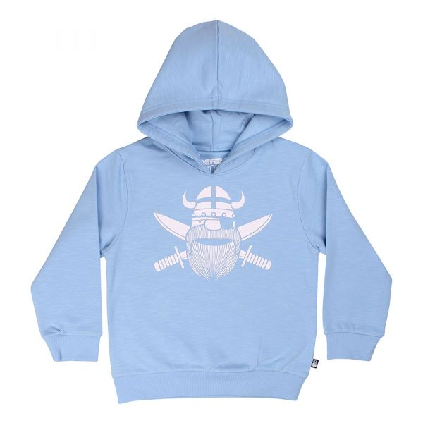 DANEFAE - ORGANIC - RED WOOD HOODIE - JUNGEN KAPUZENPULLOVER - ICE BLUE PIRATE