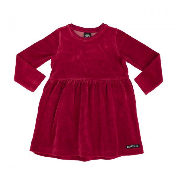 VILLERVALLA - FLARED DRESS - LANGARM VELOUR KLEID - TANGO