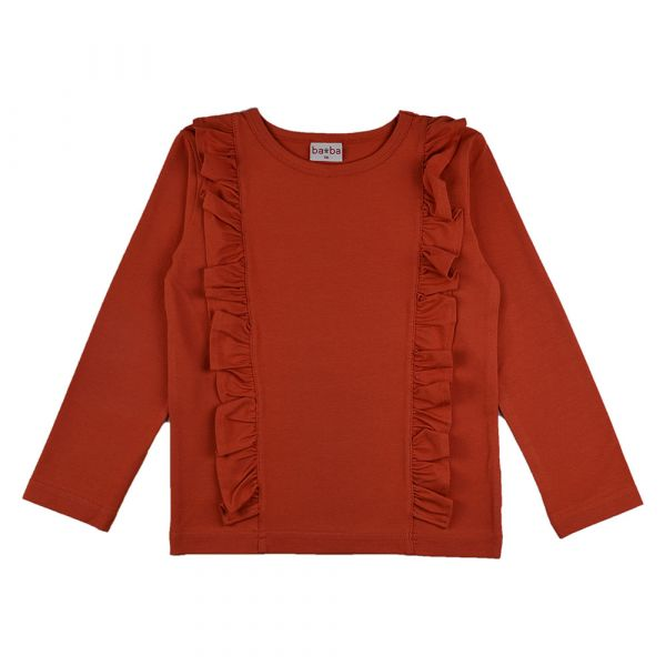 BABA - Ruffle shirt - Mädchen Langarm Rüschen Shirt