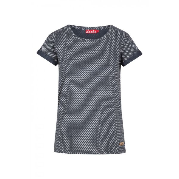 DERBE - PETITE SHIP TEE - DAMEN KURZARM SHIRT - NAVY