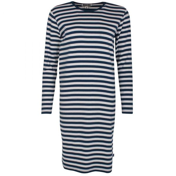 Danefae - Emmi Dress - Damen Kleid - Deep Ocean/Chalk