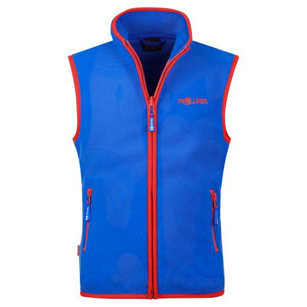 TROLLKIDS - Kids Arendal Vest - Fleece-Weste - med blue/red