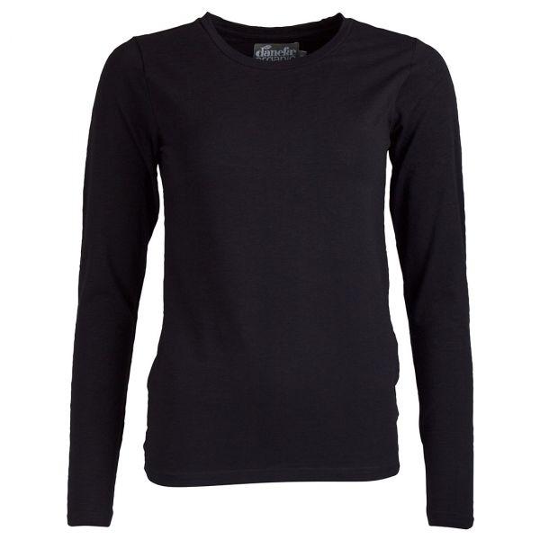 Danefae - ORGANIC - Secret LS - Damen Langarm Shirt - Black
