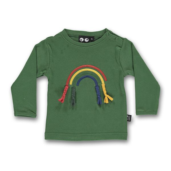 Ubang - Rainbow tee - Langarm T- shirt - Regenbogen Hedge green