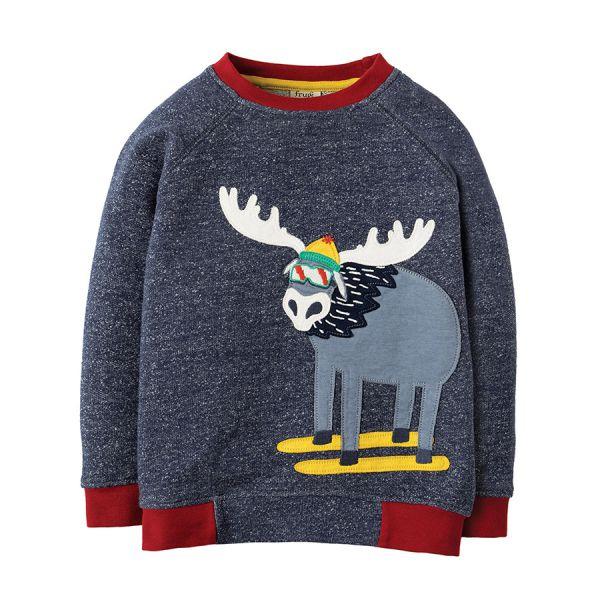 Jaco Jumper - Pullover - Indigo Terry/Moose