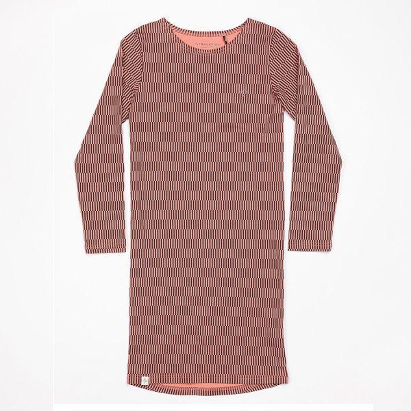 Atracktion - Lulu Dress - Teenager Kleid - Desert Sand Split Stripe