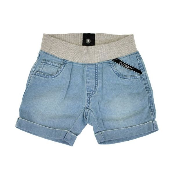 VILLERVALLA - SHORTS WITH CUFF - KURZE HOSE - LIGHT WASH
