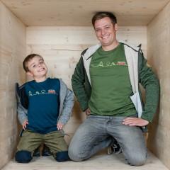 Oberteile für Herren, Partner Shirts Papa und Sohn