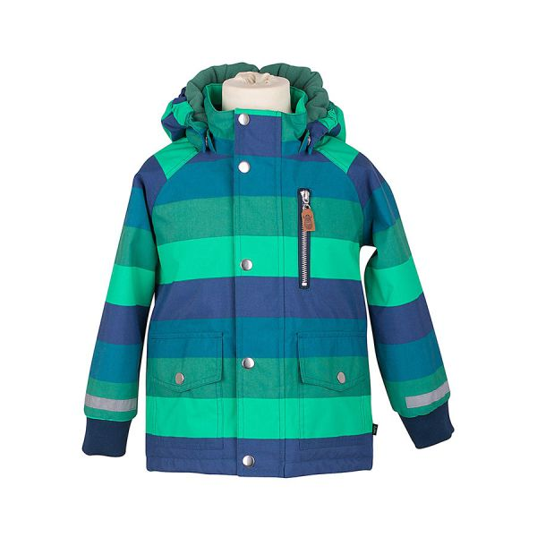 DANEFAE - HUGO - JUNGEN WINTERJACKE GESTREIFT - CONIFER