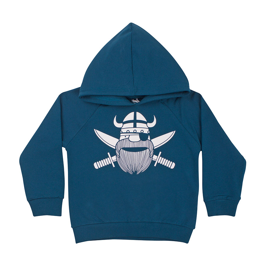 Basic Raglan Navy//Dark Duck Ghost of Erik Danefae Kinder Langarmshirt Wikinger Pirat