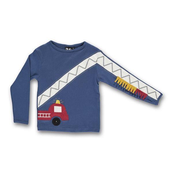 Ubang - Fire brigade tee - Langarm T- shirt - Feuerwehr/Dark denim