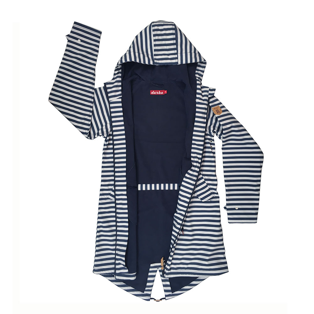 96d086a0887119 ... Vorschau: DERBE - ISLAND FRIESE STRIPED - DAMEN SOFTSHELLMANTEL -  NAVY/WHITE ...
