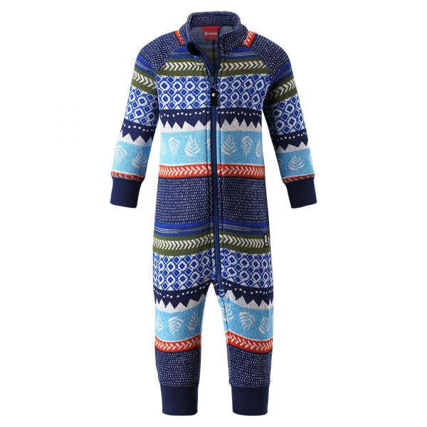 Reima - Myytti - Fleece Babyoverall - Jeans blue