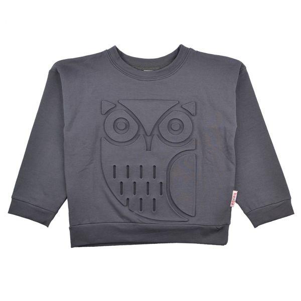 BABA - Owl sweater embossed - Langarmshirt mit Prägung - EULE