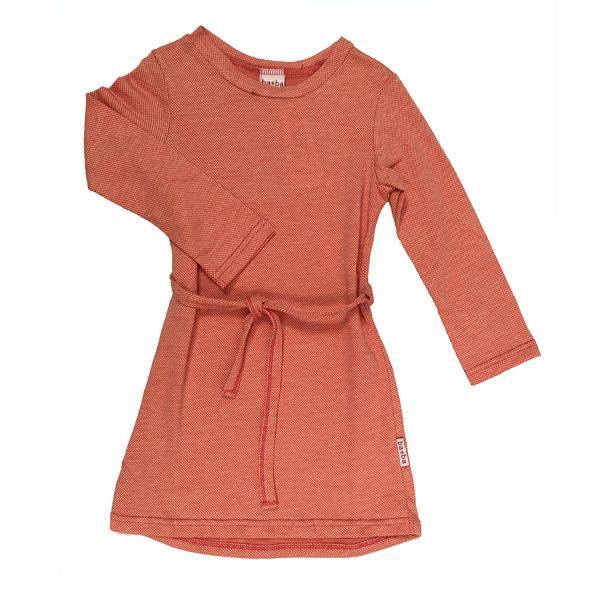 BABA - Sweat Kleid Jacquard - Red