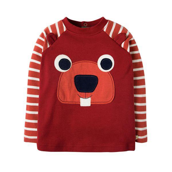 Happy Raglan Top - Langarmshirt - Maple/Beaver