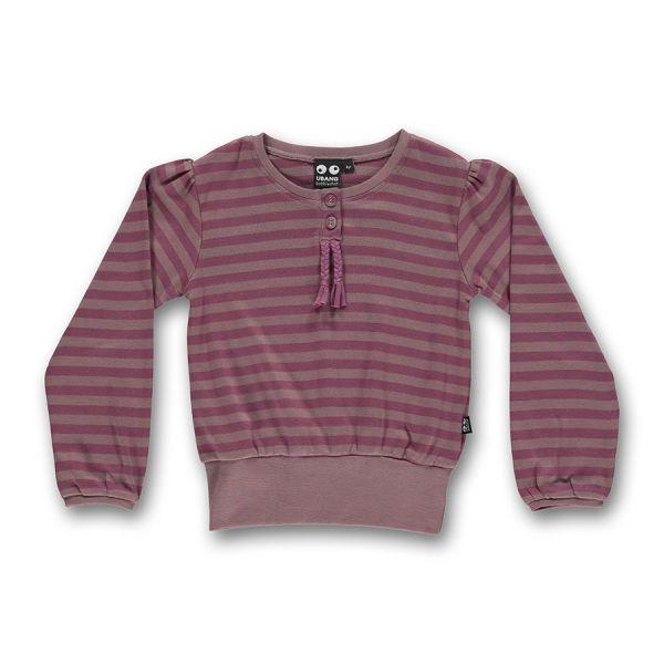 Ubang - Puffed blouse - Puffärmel Oberteil - Wood rose stripe
