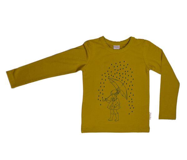 BABA - Mädchen Langarmshirt Little Girl - yellow