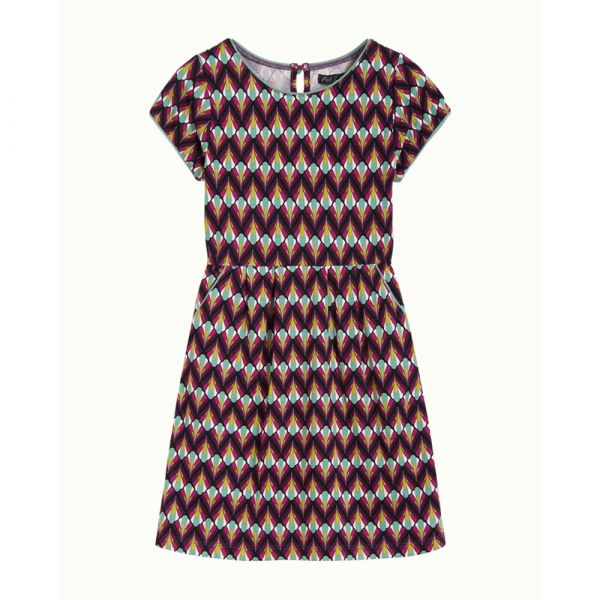 KING LOUIE PETITE - MONA DRESS NAMASTE - MÄDCHEN KLEID - VIVID PURPLE