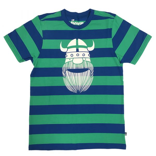 DANEFAE - MANDE TEE - HERREN T-SHIRT - King Blue/Lucky Green