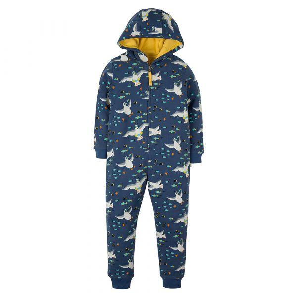 Frugi - Big Snuggle Suit - Kuschel Overall - Seagull Snorkel