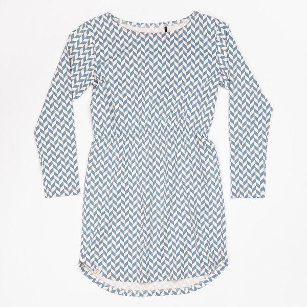 Atracktion - Aura Dress - Teenager Kleid - Bluestone Zigzag