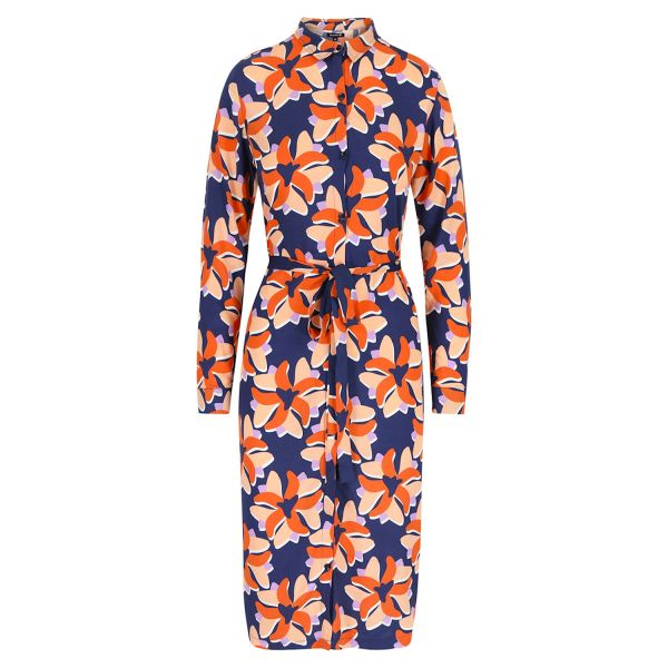 LILY BALOU - GRETA SHIRT DRESS - DAMEN LANGARM KLEID - BIG-FLOWER