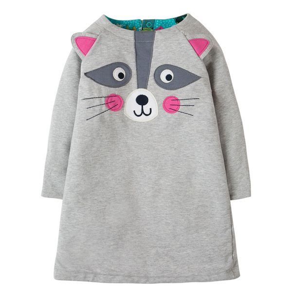 Peek A Boo Dress - Jersey Wendekleid - Seaglass Alpine Town/Raccoon