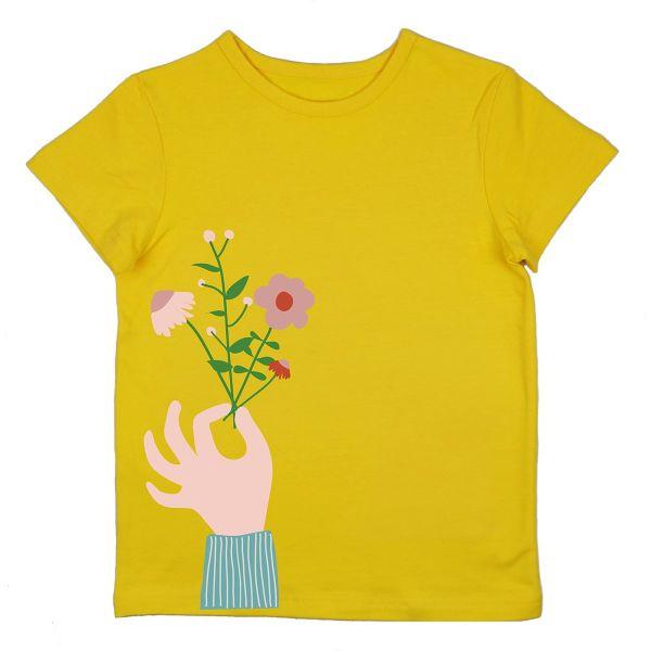 BABA - FLOWER T-SHIRT GIRLS - MÄDCHEN KURZARM T- SHIRT