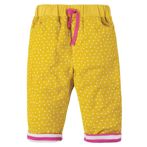 Little Cally Cord Patch Trouser - Kordhose mit Punkten - Gorse Speckle Spot