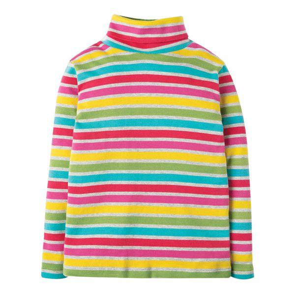 Eva Stripe Roll Neck - Pullover mit Rollkragen - Rainbow Marl Breton