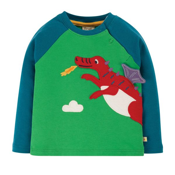 FRUGI - LITTLE ALBERT APPLIQUE TOP - LANGARMSHIRT - GLEN GREEN/DRAGON
