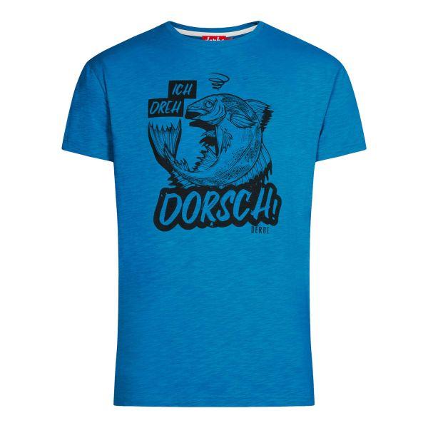 DERBE - DORSCH - HERREN T-SHIRT - SWEDISH BLUE