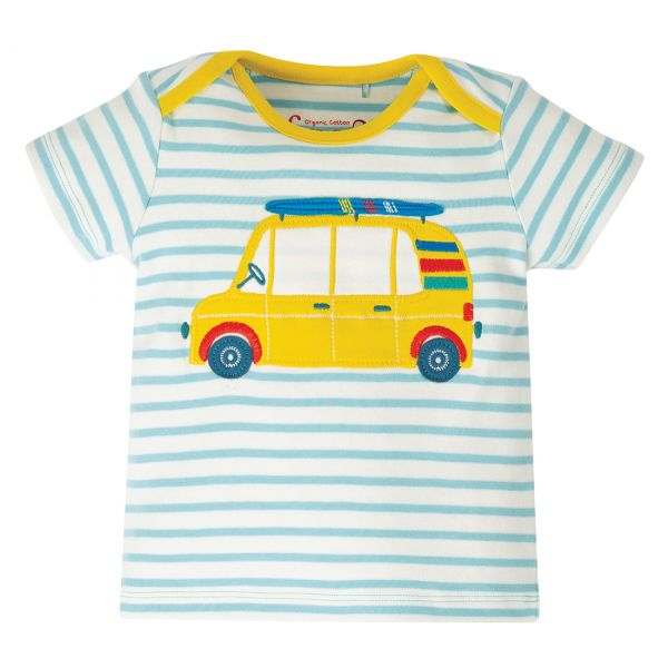 FRUGI - BOBSTER APPLIQUE TOP - KURZARM T-SHIRT