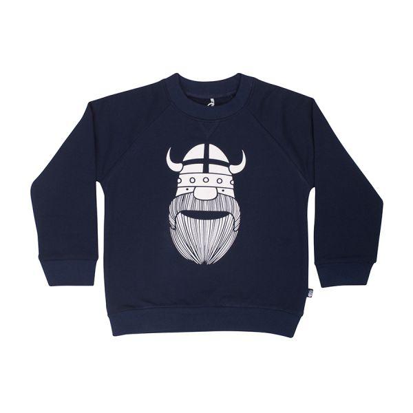 Danefae - Amerika Sweat - Langarm Sweatshirt GLOW - Navy