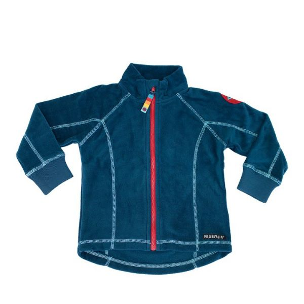 VILLERVALLA - FLEECE JACKET, SOLID - WEICHE FLEECEJACKE - MARINE